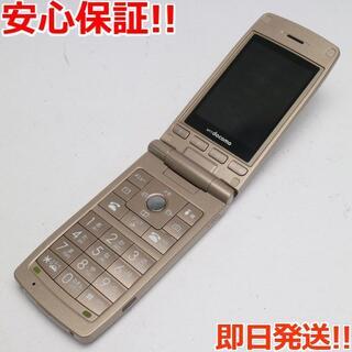 エルジーエレクトロニクス(LG Electronics)の美品 L-03A ゴールド 白ロム(携帯電話本体)