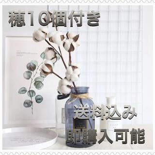 コットンフラワー ホワイト 1本韓国インテリア ドライフラワー フェイクフラワー(ドライフラワー)