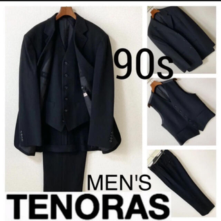 メンズティノラス(MEN'S TENORAS)の90s◆メンズ ティノラス◆セットアップ スリーピース スーツ ワイドパンツ L(セットアップ)