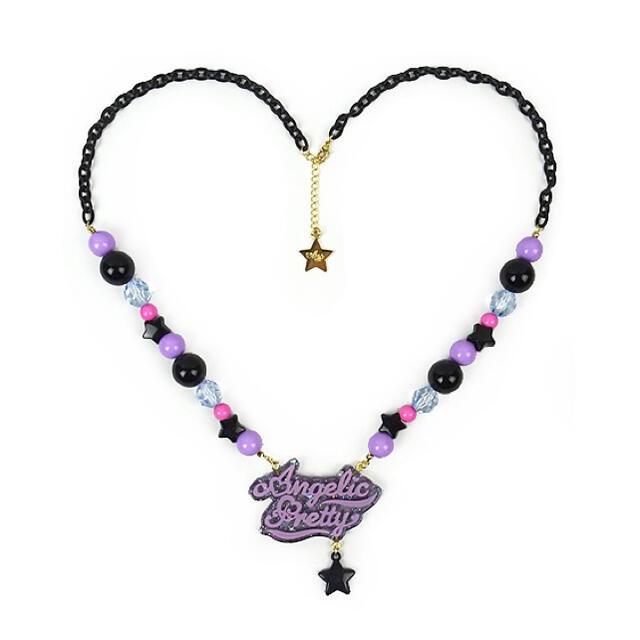 Angelic Pretty(アンジェリックプリティー)のNeonロゴネックレス レディースのアクセサリー(ネックレス)の商品写真