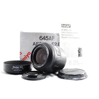 マミヤ(USTMamiya)のMamiya 645 AF 55mm F2.8 【動作確認済・光学綺麗・元箱付】(レンズ(単焦点))