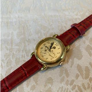 アルバ(ALBA)の【ゴールドでキラキラ】ミッキー腕時計 シチズン アルバ 日本製(腕時計)