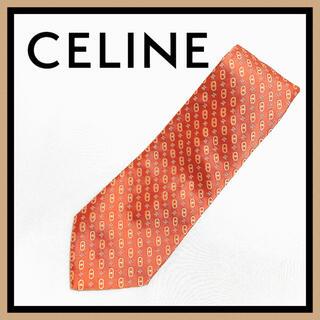 CEFINE - 超美品 セリーヌ CELINE ネクタイ マカダム柄 総柄 刺繍