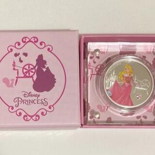 ディズニー(Disney)のオーロラ姫 1オンス銀貨プルーフ ジェムストーン付き 2020年ニウエ(貨幣)