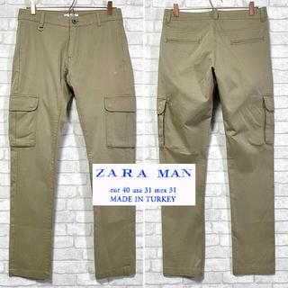 ザラ(ZARA)のZARA MAN ザラ スリム カーゴパンツ ストレッチ Dカン W31(ワークパンツ/カーゴパンツ)