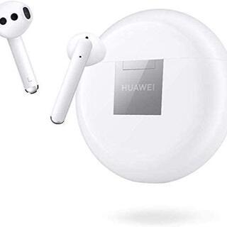 ファーウェイ(HUAWEI)の【新品未使用】HUAWEI ワイヤレスイヤホン FREEBUDS 3 ホワイト(ヘッドフォン/イヤフォン)