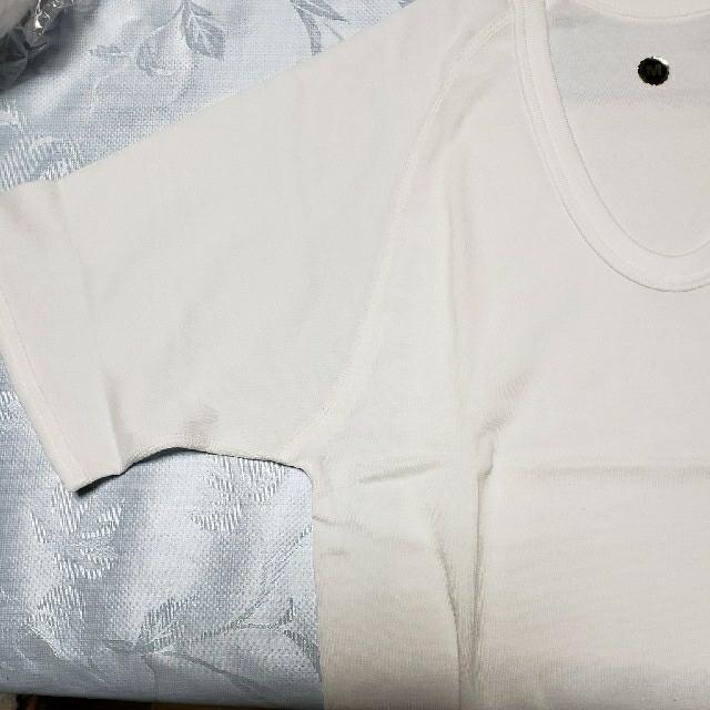 シャルレ(シャルレ)のシャルレ半袖U首 M 白 メンズのアンダーウェア(その他)の商品写真