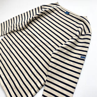 【美品】フランス製 バスクシャツ NINE THREE  QUARTER(Tシャツ/カットソー(七分/長袖))