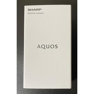 アクオス(AQUOS)のSHARP AQUOS sense4 SH-M15 ブラック(スマートフォン本体)
