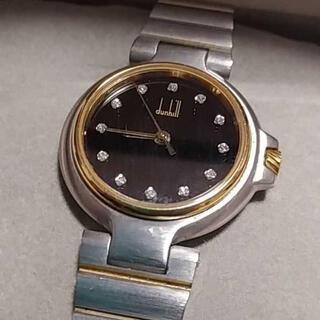 ダンヒル(Dunhill)のdunhill ダンヒル 12Pダイヤ  クォーツ 腕時計 黒文字盤(腕時計(アナログ))