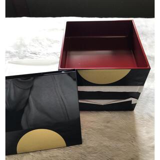 アサヒケイキンゾク(アサヒ軽金属)の山中塗 重箱 アサヒ軽金属 5寸3段重 新品未使用 日本製(弁当用品)