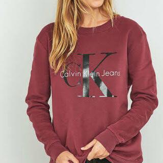 カルバンクライン(Calvin Klein)のCalvin Klein jeans maroon sweat USA パーカー(トレーナー/スウェット)