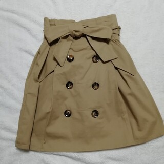 トレンチスカート(ひざ丈スカート)