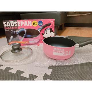 ディズニー(Disney)のSAUSEPAN ディズニー ミニーマウス 17cm 鍋(調理機器)
