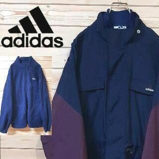 アディダス(adidas)のアディダス マウンテンジャケット90s 刺繍ロゴ ジップインジップ L(マウンテンパーカー)