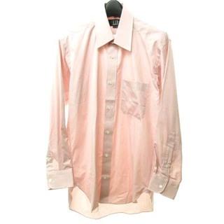ダンヒル(Dunhill)のダンヒル dunhill 美品 ワイ シャツ 長袖 胸ロゴ刺繍 ピンク系(シャツ)