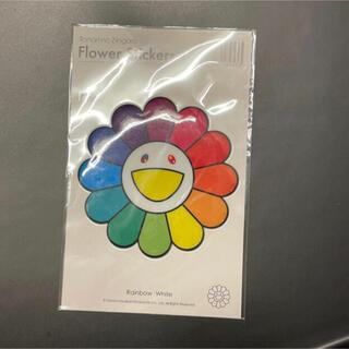 本物 国内正規品 kaikaikiki 村上隆 Stickerお花 レインボー(キャラクターグッズ)