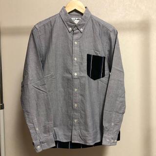 ベースコントロール(BASE CONTROL)の古着 BASE CONTROL 切り替え素材がオシャレボタンシャツ◇M-0164(シャツ)