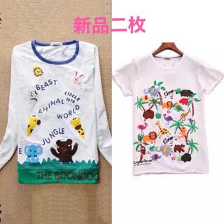 ラフ(rough)の未使用品,rough Tシャツ二枚,刺繍たっぷり,可愛すぎ(Tシャツ(半袖/袖なし))