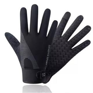5本指釣りスポーツ手袋黒(ウエア)