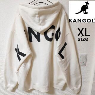 KANGOL - 【即日対応】KANGOL プルオーバーパーカー ビックロゴ XL 裏起毛