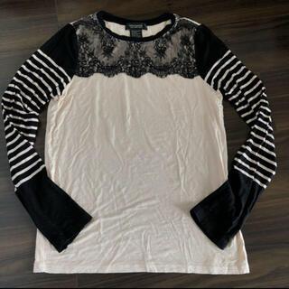 ダブルスタンダードクロージング(DOUBLE STANDARD CLOTHING)のダブルスタンダードクロージング レース ロンT ボーダー ピンク(Tシャツ(長袖/七分))