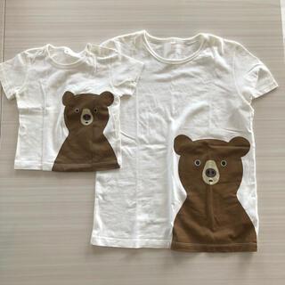 MUJI (無印良品) - 無印良品 くま Tシャツ 80 150