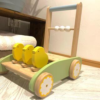 木のおもちゃ 手押し車(手押し車/カタカタ)
