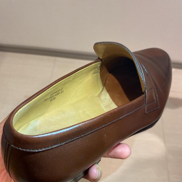 J.M. WESTON(ジェーエムウエストン)のJ.M.WESTON(ジェーエムウエストン)ローファー サイズ6D ブラウン 茶 メンズの靴/シューズ(ドレス/ビジネス)の商品写真