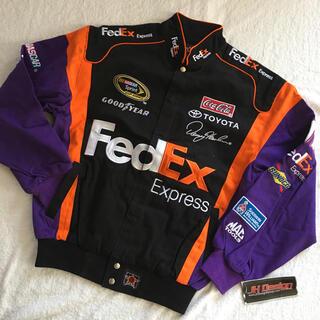 トヨタ(トヨタ)のナスカー FedEx デニー ハムリン レーシングジャケット M(L-XL相当)(ブルゾン)