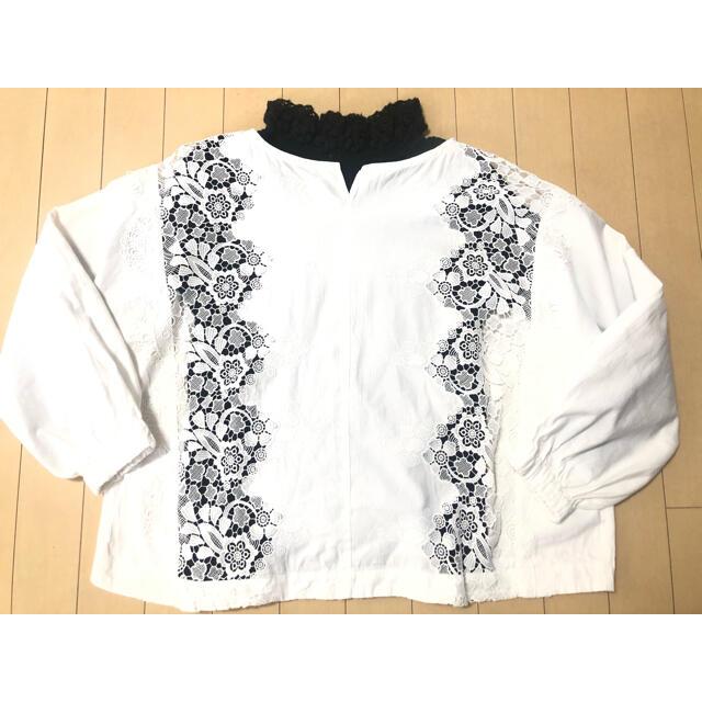 pual ce cin(ピュアルセシン)の刺繍 プルオーバー ブラウス(pual  ce cin) レディースのトップス(シャツ/ブラウス(長袖/七分))の商品写真