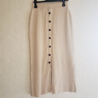 ローリーズファーム(LOWRYS FARM)の【LOWRYSFARM】ニットスカート、フリーサイズ、春服(ロングスカート)
