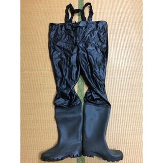 新品未使用 胴付き長靴ウェーダー(WADER)ブラックM25cm(ウエア)
