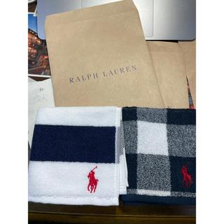 Ralph Lauren - ラルフローレン ハンカチタオル 2枚セット新品未使用