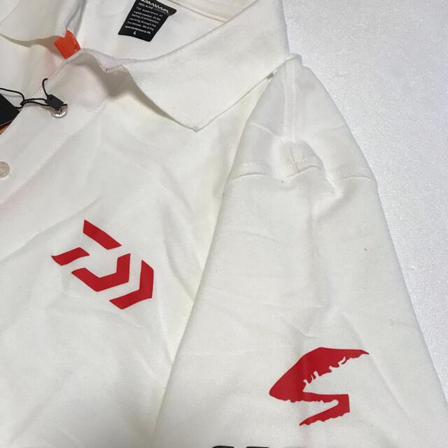 DAIWA(ダイワ)のDaiwa ダイワ ポロシャツ ホワイト レッド3XLサイズ スポーツ/アウトドアのフィッシング(ウエア)の商品写真