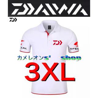 ダイワ(DAIWA)のDaiwa ダイワ ポロシャツ ホワイト レッド3XLサイズ(ウエア)