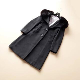 Max Mara - ■マックスマーラ■ IJ 36 黒 ファー襟 コート