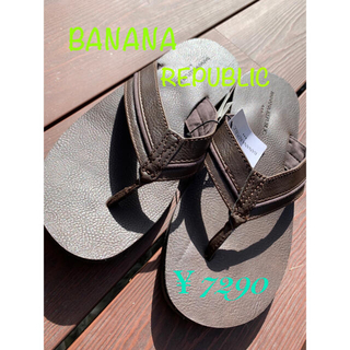 バナナリパブリック(Banana Republic)の☆新品☆BANANA REPUBLIC バナナ リパブリック ダークブラウン(サンダル)