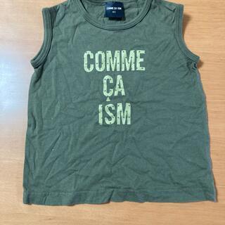 コムサイズム(COMME CA ISM)のコムサイズム タンクトップ カーキ色 90 他と一緒なら100円でつけます。(Tシャツ/カットソー)