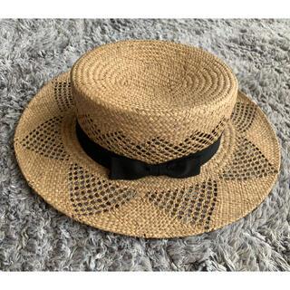 ネストローブ(nest Robe)のnest robe 帽子(麦わら帽子/ストローハット)