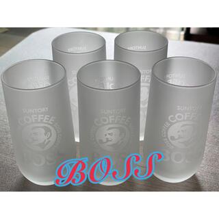 ☆新品☆BOSS coffee suntory グラス 5個セット ☆3個可☆(グラス/カップ)