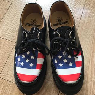 ジョージコックス(GEORGE COX)の【お値下げ!】ジョージコックス ラバーソール 星条旗(ローファー/革靴)