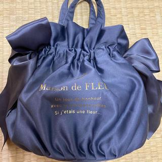 Maison de FLEUR - 【Maison de FLEUR】リボン 巾着バッグ 斜め掛け