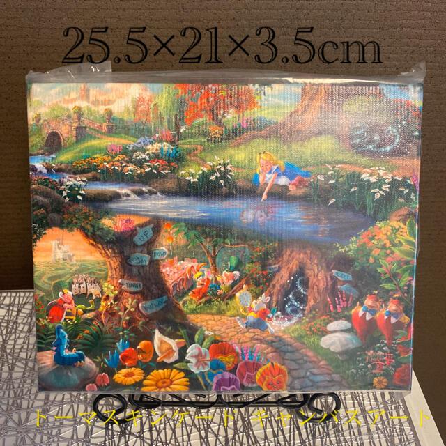 Disney(ディズニー)のトーマスキンケード Disney 不思議の国のアリス キャンバスアート エンタメ/ホビーの美術品/アンティーク(絵画/タペストリー)の商品写真