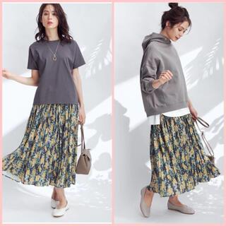エニィファム(anyFAM)の anyfam ニュアンスフラワープリント スカート(ロングスカート)