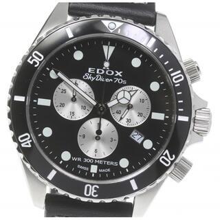 エドックス(EDOX)の☆極美品 エドックス スカイダイバー クロノグラフ 10238 メンズ 【中古】(腕時計(アナログ))