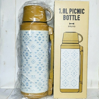イデアインターナショナル(I.D.E.A international)の新品 【BRUNO】水筒 1.8L ピクニックボトル マスタード(水筒)