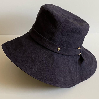 ヘレンカミンスキー(HELEN KAMINSKI)のよっこ様専用です。ヘレンカミンスキー 帽子 つば広 リネン 美品(ハット)