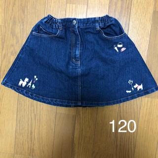 ポンポネット(pom ponette)のスカート ジーンズ 120(スカート)