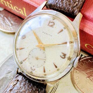 ゼニス(ZENITH)の#1223【シックでお洒落】メンズ 腕時計 ゼニス 動作良好 ヴィンテージ (腕時計(アナログ))